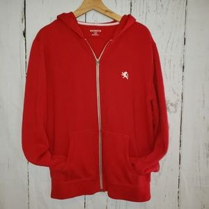 Express Red full zippered hoodie